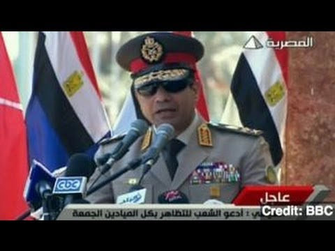Egypt's Military Leader Calls for Mass Protests