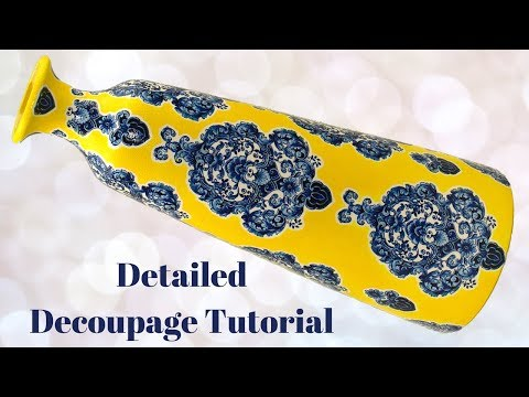 DIY Decoupage Vase | How To Tutorial | Upcycle