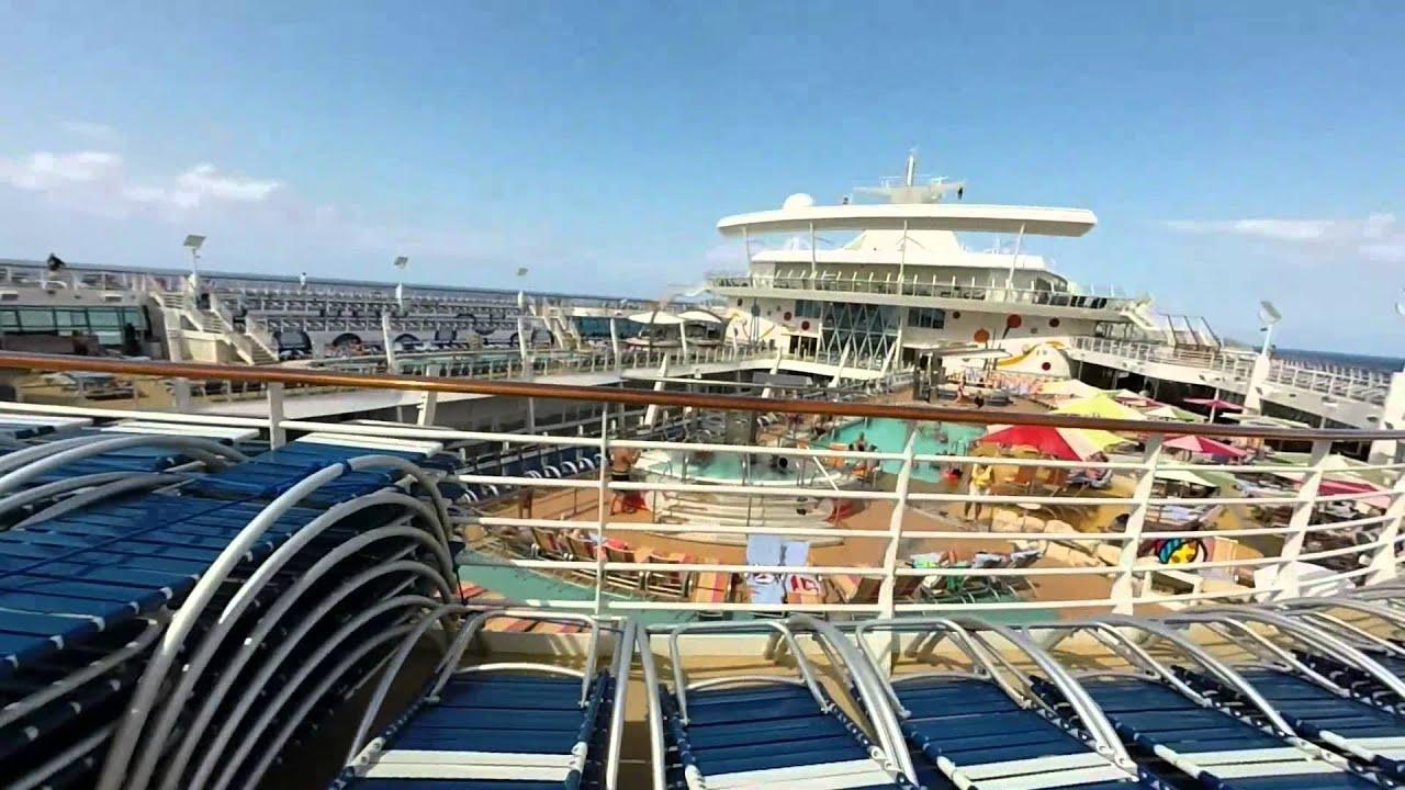 Allure Of The Seas Pool Deck Solarium Youtube
