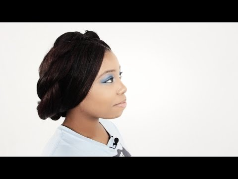 3 Tree Braids Hairstyles: Milk Braids. High Bun. Braided Headband Hair Tutorial Part 6