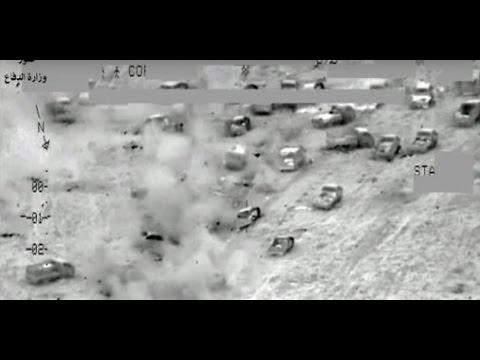 RAW footage Massive Air strikes ISLAMIC state fleeing Fallujah Iraq Breaking News 30 June 2016