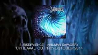 SUBSERVIENCE - Inhuman Savagery (Lyric Video)