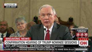 Sessions promises to recuse himself from Clinton probes