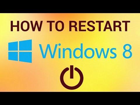 How to Restart Windows 8