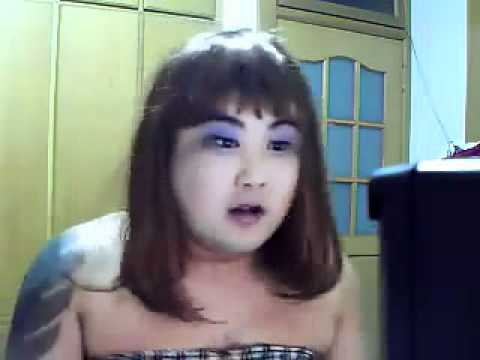 Pretty Chinese Girl Singing