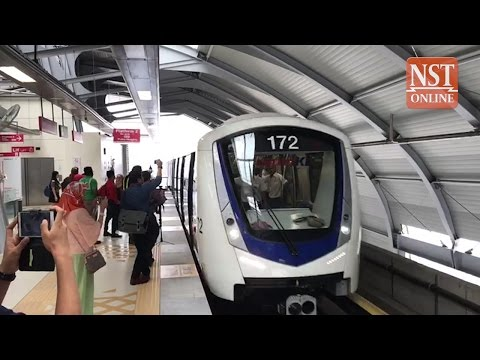 New, high tech trains launched for RapidKL's KJ LRT line