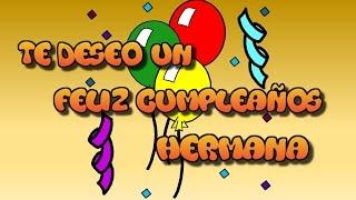 Tarjeta Virtual Animada De Feliz Cumpleaños Hermana