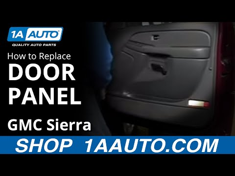 How To Install Replace Remove a Door Panel Chevy Silverado GMC Sierra 03-06 BUY AUTO PARTS AT 1AAUTO