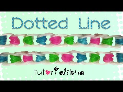 NEW Dotted Line Rainbow Loom Bracelet Tutorial