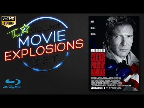 The Best Movie Explosions Clear And Present Danger (1994) Hangar Explosion [HD]