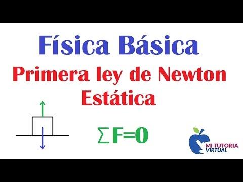 Problema de Aplicacion Primera Ley de Newton - Estática de la Partícula - Mecánica - Video 019