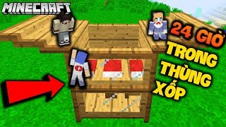 MINECRAFT 24 GIỜ SỐNG TRONG THÙNG XỐP 2 TẦNG - GUMBALL LUCY NOOB - OOPS GUMBALL MINECRAFT