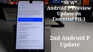 *NEW* Android P Preview Update for Essential Phone (Fixes, Changes)