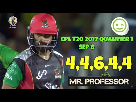 Play Mohammed Hafeez Mr Professor Blasting Boundaries In Qualifier 1 vs Knight Riders , Sep 6 CPL 2017 in Mp3, Mp4 and 3GP
