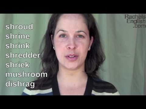 How to Pronounce the SHR Consonant Cluster: American English