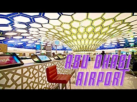Inside Abu Dhabi International Airport Etihad Airways *HD*
