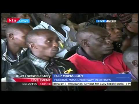 Jimmy Kibaki gives Tribute to his late mother Lucy Kibaki during Funeral Service
