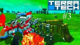Игровой мультик TerraTech  # 3 про боевые машинки конструируется как лего. Машины. танки самолеты.