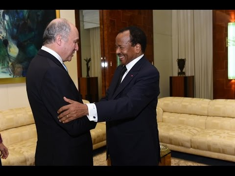 Audience accordée à Laurent Fabius par S.E. Paul BIYA