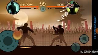 Playing the hacked version of shadow fight 2 😜