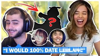 REVEALING SECRET LEAGUE CRUSHES! Picking each other's Champions! Ft. Yassuo - Pokimane LoL