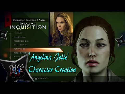 Dragon Age Inquisition | Celebrity Character Creation | Angelina Jolie | Ps4 video