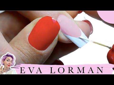 Видео как нарисовать френч на ногтях