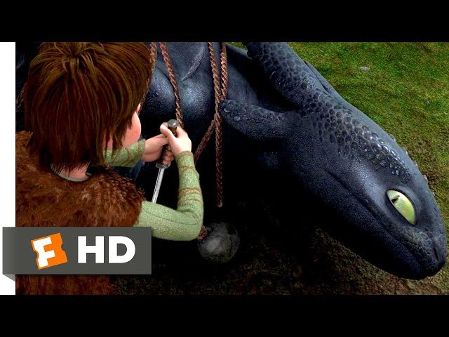 How to Train Your Dragon 2010 - Freeing The Night Fury Scene 110  Movieclips
