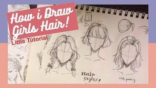 [Little tutorial] How I draw hair | Girls/Females edition女生頭髮怎麼畫!