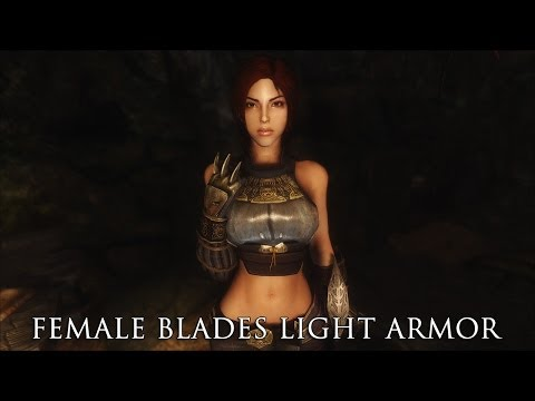 TES V - Skyrim Mods: Female Blades Light Armor