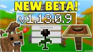 MCPE 1.13.0.9 BETA! NEW Brown Mooshroom Mobs! Minecraft Pocket Edition Java Parity