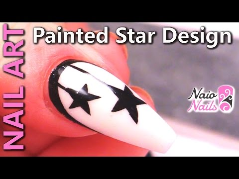 Nail Art Ideas - Using Acrylic Paints to Create Stars