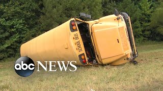 Driver had heart attack before school bus crash: Authorities l ABC News