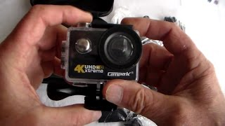 Unboxing and Using the Campark 4K  'Extreme' Ultra HD Action Camera - Test Clips