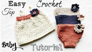 Download Easy  Newborn Baby Crochet Top Tutorial 3Gp Mp4