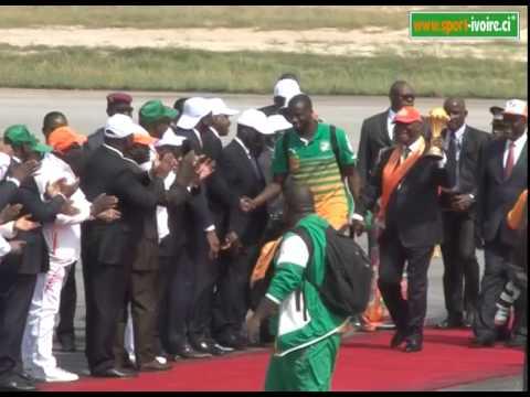Accueil triomphal réservé aux Éléphants à Abidjan Partie 1