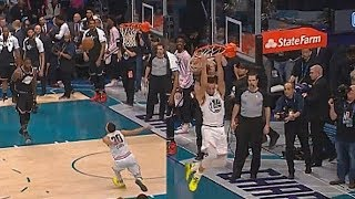 Stephen Curry Shocks Entire Crowd With His Craziest Dunk & J. Cole Can't Believe It!