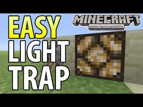 Minecraft Xbox 360 PS3 TU14 EASY EXPLODING LIGHT TRAP TUTORIAL