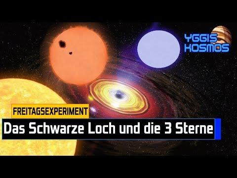 Das Schwarze Loch und 3 Sterne + KOLLISION!!![#freitagsexperiment]