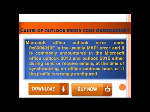 how to fix outlook error 0x8000401of