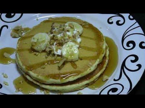 Homemade Pancake Recipe with Bananas and Walnuts