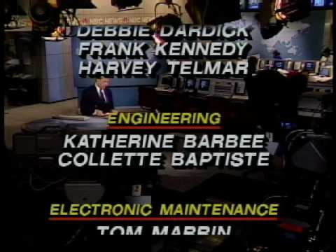 NBC - 1989 NBC Nightly News Show End Credits and NBC News Theme...