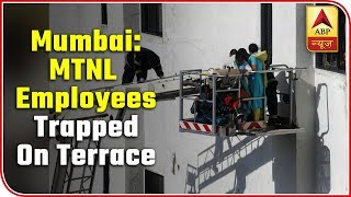 Mumbai: Employees Trapped On Terrace Saved Via Rescue Lift | ABP News