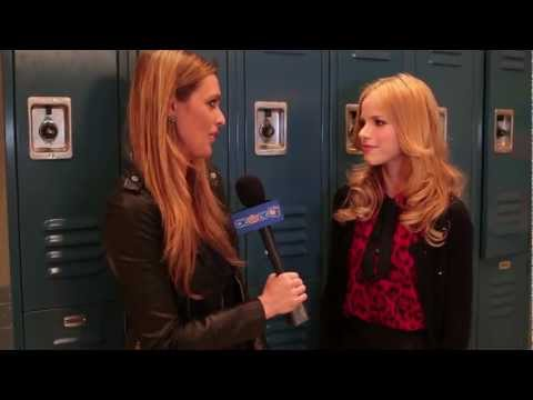 "Halston Sage On Set ""How to Rock"" Interview"