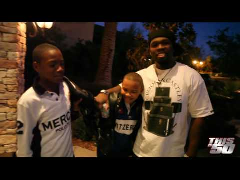 50 Cent At Floyd Mayweather's Big Boy Mansion with Rick Ross' son, Tia and Diddy in Las Vegas Video