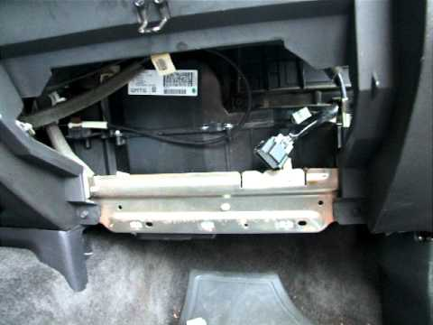 2007 Chevy Colorado blower fan resistor and wiring harness replacement