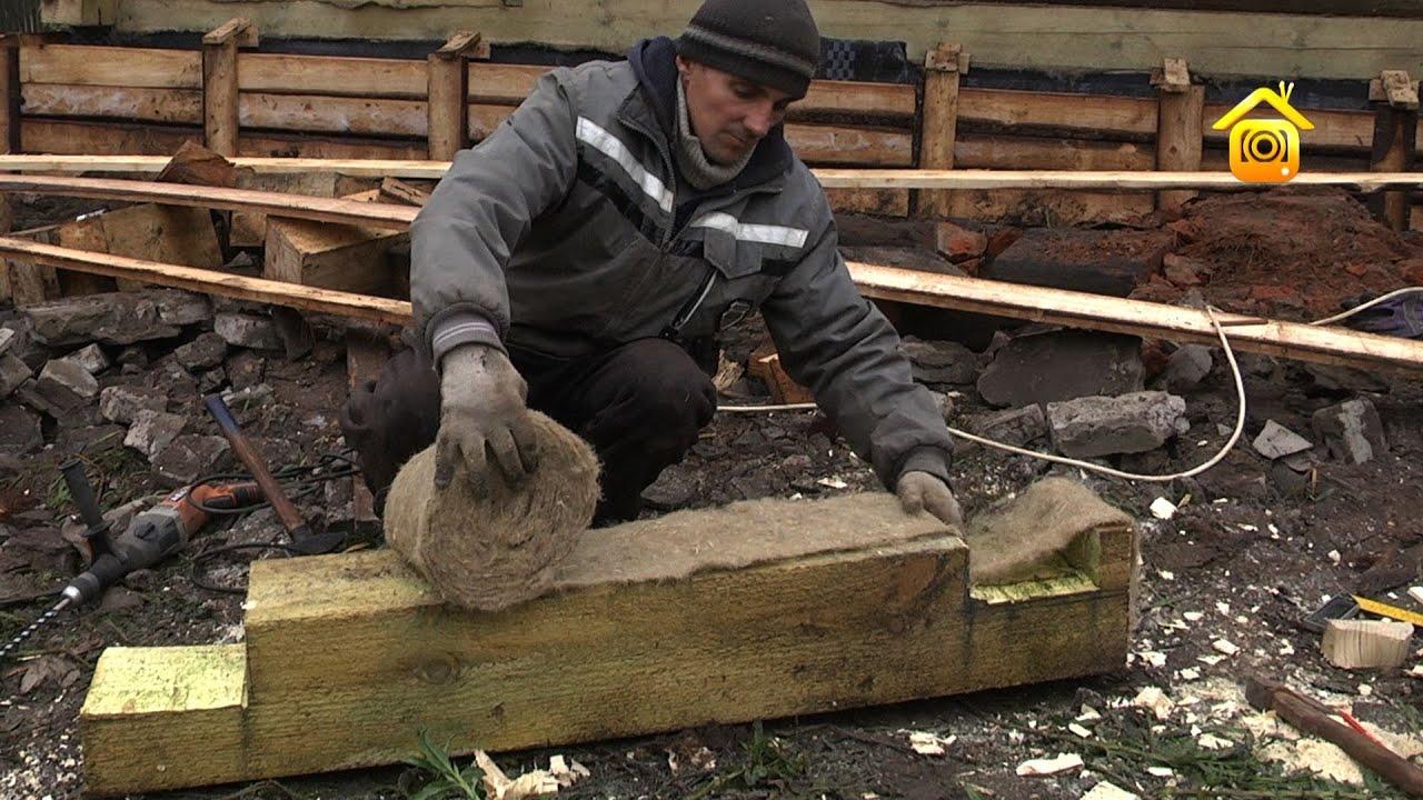 Замена бревен в деревянном доме своими руками