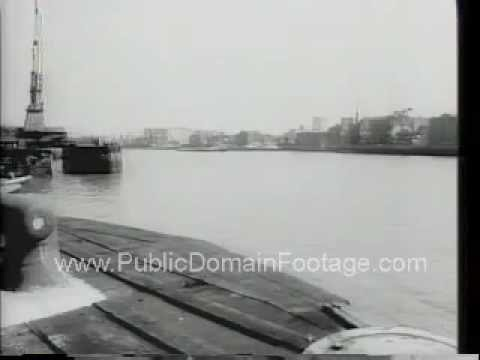 Shipping stoppage at London Ports Newsreel  - stock footage - PublicDomainFootage.com