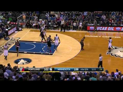 Ricky Rubio's Huge 3-Pointer | Blazers vs Timberwolves | March 7, 2015 | NBA 2014-15 Season
