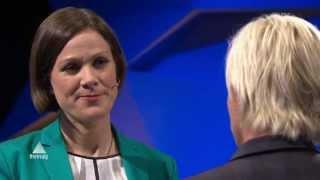 Siv Jensen (FrP) banker MDG i klimadebatt! Partilederdebatten, Valg 2013